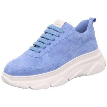 Copenhagen Plateau Sneaker blau