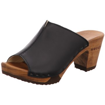 Woody Plateau Pantolette schwarz