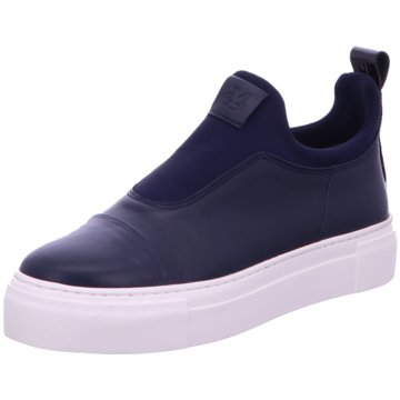 Marc O'Polo Plateau Slipper blau