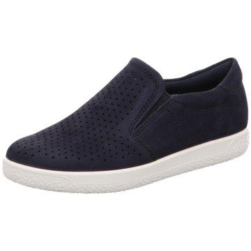 Ecco Sportlicher Slipper blau