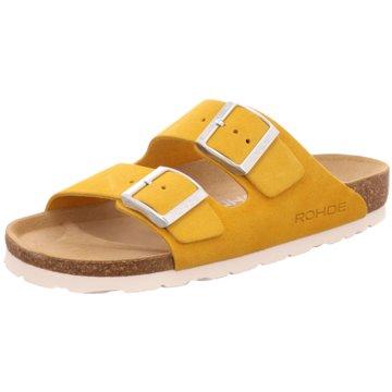 Rohde Klassische Pantolette gelb