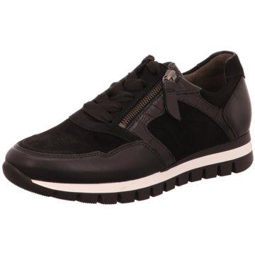 Gabor comfort Sportlicher Schnürschuh schwarz
