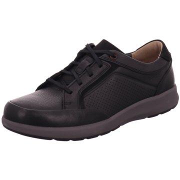 Clarks Sportlicher Schnürschuh schwarz