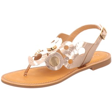 Flanch Top Trends Sandaletten gold