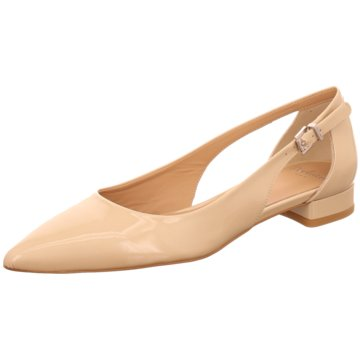 Perlato Flacher Pumps beige