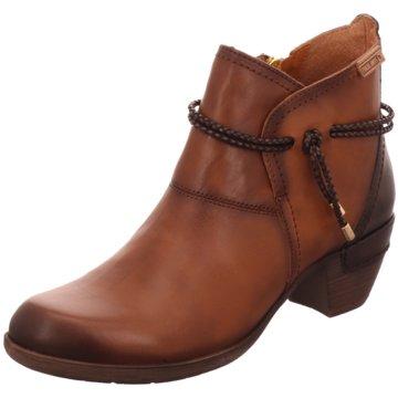 Elegant Damen Schuhe Pikolinos Schnürschuh braun Leder
