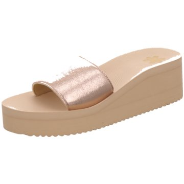 Flip-Flop Plateau Pantolette gold