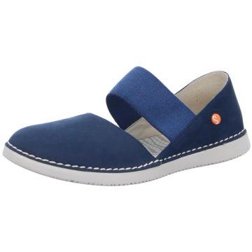 Softinos Offene Schuhe blau