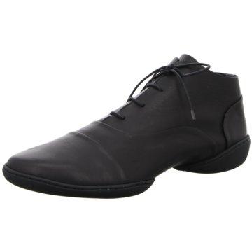 Trippen Komfort Schnürschuh schwarz