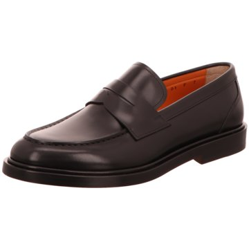 Santoni Business Slipper schwarz