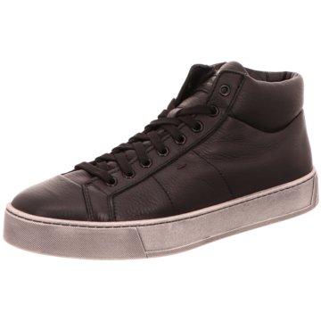 Santoni Sneaker High schwarz