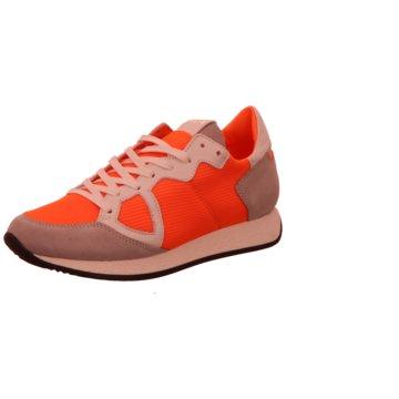 Philippe Model Sportlicher Schnürschuh orange