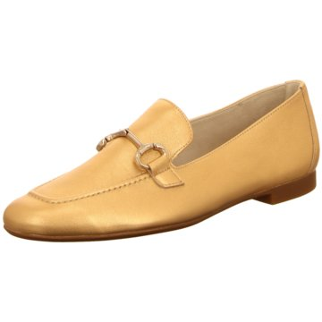 Paul Green Klassischer Slipper gold