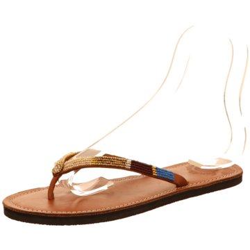 Sandlovers Zehentrenner braun