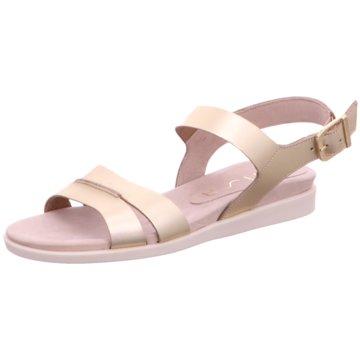 Unisa Komfort Sandale gold