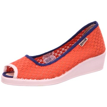 Maians Peeptoe Ballerina orange