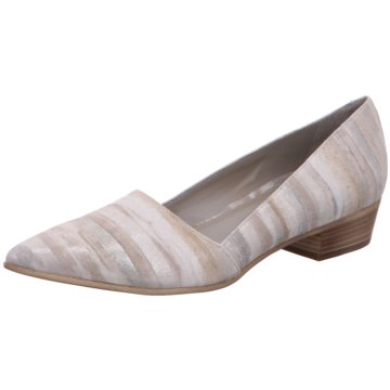 Maripé Flacher Pumps beige