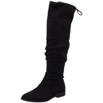 SPM Shoes & Boots Overknee Stiefel schwarz
