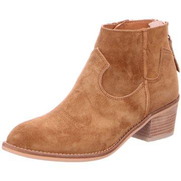 Alpe Woman Shoes Klassische Stiefelette beige