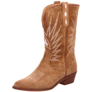 Alpe Woman Shoes Cowboystiefel beige