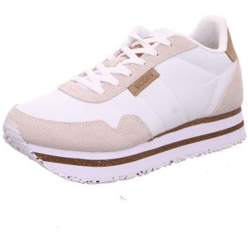 Woden Plateau Sneaker weiß