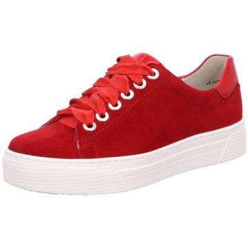 Semler Plateau Sneaker rot