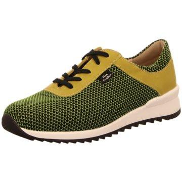 FinnComfort Sportlicher Schnürschuh grün