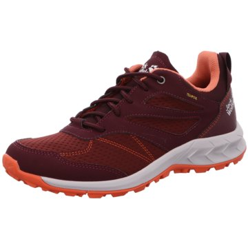 JACK WOLFSKIN Outdoor SchuhWOODLAND TEXAPORE LOW W - 4039241-2828 rot