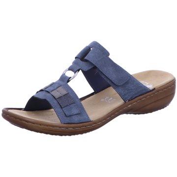 Rieker Komfort Pantolette blau
