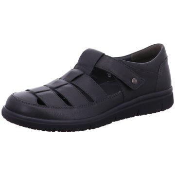 Solidus Komfort Sandale schwarz