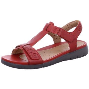 Clarks Komfort Sandale rot