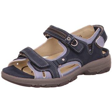 Waldläufer Offene Schuhe blau