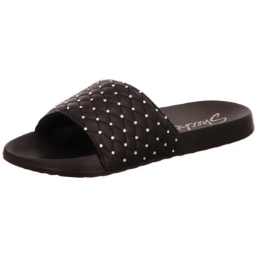Skechers Pool Slides schwarz