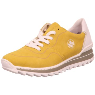 Rieker Komfort SchnürschuhSneaker gelb