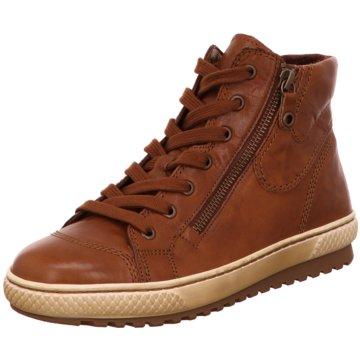 Gabor Sneaker HighAnkle-Bootie braun