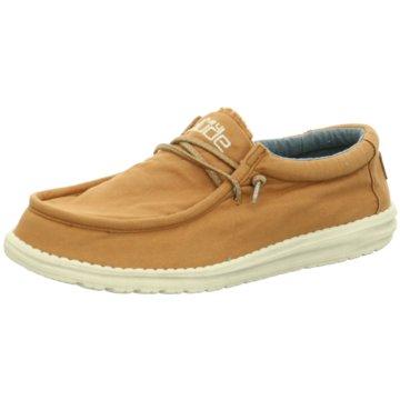 Hey Dude Shoes Mokassin Schnürschuh braun