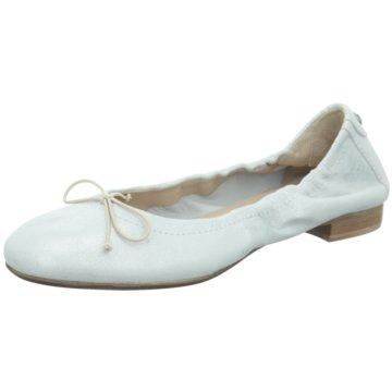 Donna Carolina Faltbarer Ballerina weiß