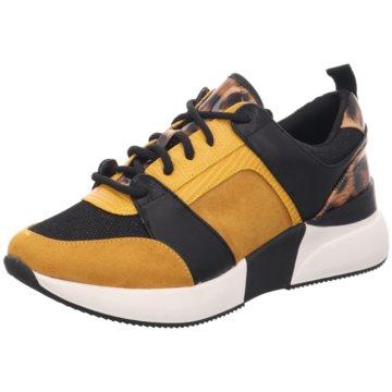 La Strada Plateau Sneaker gelb