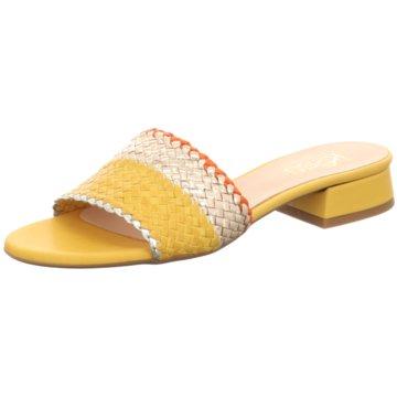 Kess Klassische Pantolette gelb