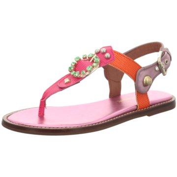 Alpe Woman Shoes Zehenstegsandale rot