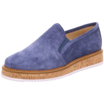 Alpe Woman Shoes Plateau Slipper blau