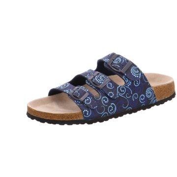 Indigo Klassische Pantolette blau