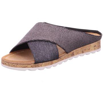 Hengst Footwear Plateau Pantolette grau
