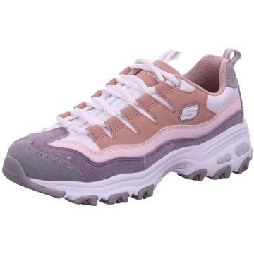 Skechers Plateau SneakerD'Lites Sure Thing grau