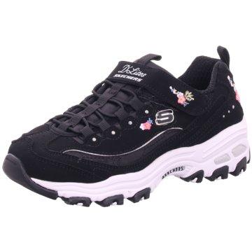 SKECHERS SKECHERS 81953LBKLP Meridian Charted Kinder Mädchen Sneaker schwarzweißrosa Halbschuhe, SKECHERS
