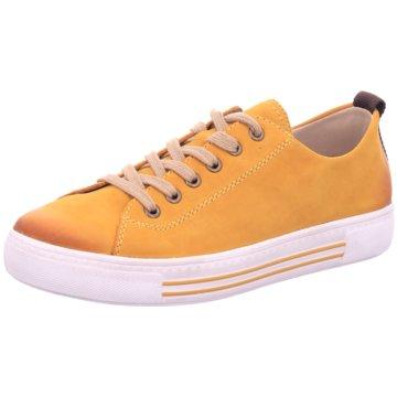 Remonte Sportlicher Schnürschuh gelb