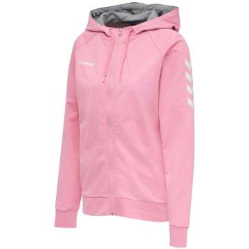 Hummel SweaterHMLGO COTTON ZIP HOODIE WOMAN - 204232 rosa