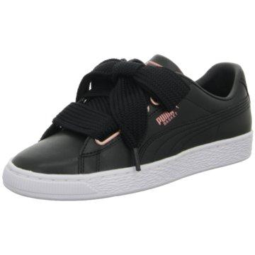 Puma Sneaker LowBasket Heart Leather schwarz