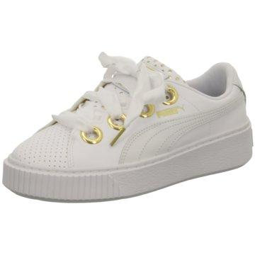 Puma Sneaker LowPlatform Kiss weiß