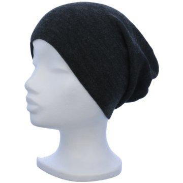 Seiden-Grohn Mütze Damen grau